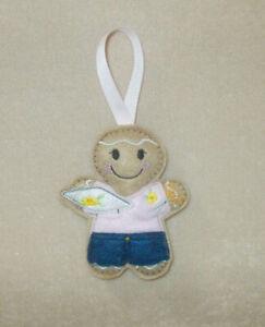 Embroiderer Gingerbread Felt Embroidered Hanging decoration ornament