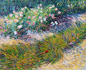 Grass and Butterflies by Vincent van Gogh A2+ High Quality Art Print