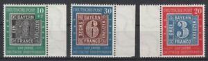 BRD 1949 MiNr. 113-115 postfrisch - 100 Jahre deutsche Briefmarken