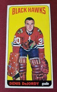 1964-65 Topps Tallboy #22 DENIS DeJORDY Chicago Black Hawks