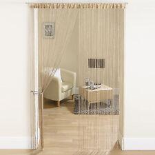 Khaki Glitter Beaded String Curtain Door Room  Divider  Window Screen Decoration