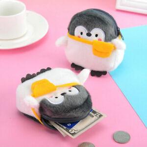 New Plush Penguin Coin Purse Lipstick Bag Data Line Bag Soft Mini Backpack Decor