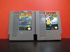 Lot of SOFEL Cartridges Nintendo Entertainment System Wall Street Kid Casino Kid