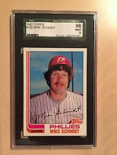 1982 Topps # 100 Mike Schmidt SGC 96 Mint 9
