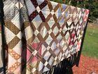 Antique Vintage Quilt Top Unfinished Hand Sewn