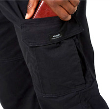 Men's Wrangler FLEX Cargo Pants Relaxed Fit Flat Front Tech Pocket SIZES 34-54