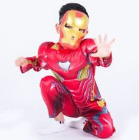Boys Iron Man Avengers Infinity War Fancy Dress Costume Outfit Cosplay Superhero