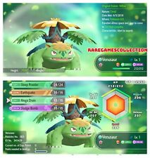 Pokemon Let's Go Pikachu Eevee ✨ SHINY ✨6 IV 1 LEVEL MEGA VENUSAUR FAST TRADE