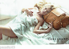 PUBLICITE ADVERTISING  046  2006  Longchamp  sac (2p) & Kate Moss
