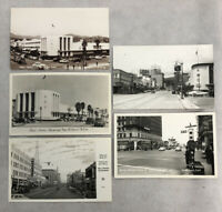 Hollywood 5 Photo Postcard Lot RPPC NBC Radio City Sunset Vine Rexall Vintage CA