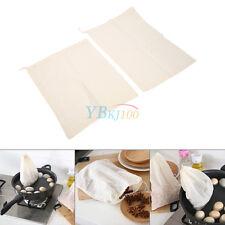 Durable 2 * filtro de algodón bolsa * cordon para colar la leche sopa de pescado