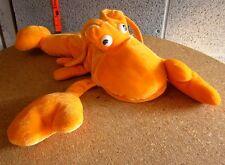 Orange Lobster marine plush crustacean Dreamland Toys seafood doll w/ claws