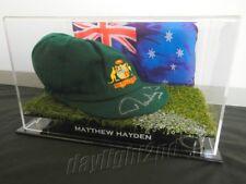 ✺Signed✺ MATTHEW HAYDEN Replica Baggy Green COA Australia 2018 Cricket