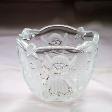 WALTHERGLAS GLASS BOWL WITH ANGELS IN RELIEF