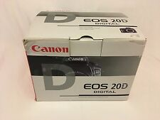 Canon EOS 20D 8.2MP DSLR Black (Body Only) Plus 3 Batteries & 2 Chargers