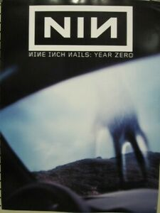 NINE INCH NAILS 2007 year zero promotional poster Near Flawless NEW old stock