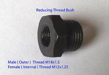 M12 x1.25 Female to M18x1.5 Male Thread Reducing Bush fitting air Water fuel