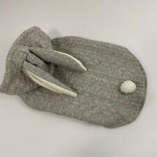 Top Paw Bunny Rabbit Dog Sweater Coat Hoodie Grey Fleece New