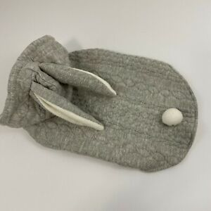 Top Paw Bunny Rabbit Dog Sweater Coat Hoodie Grey Fleece New