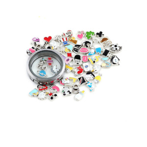 5pcs Best Quality Floating Charms For Memory Locket Necklace Pendant Keyring