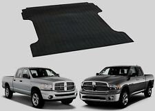 Rubber BED MAT 2002- 2018 Dodge RAM 1500 6' FOOT SHORT BOX Cargo Liner Protector