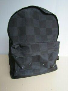 Quicksilver Backpack Matching Pencil Case School Rucksack Bag Black Blue Check