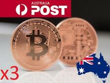 **3 Pack** Bronze Plated Bitcoin Novelty Coin