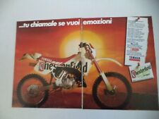 advertising Pubblicità 1991 MOTO YAMAHA CHESTERFIELD SCOUT WR 125