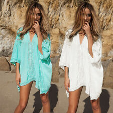 Womens Summer Beach Beachwear Swimwear Bikini Wear Cover Up Kaftan Ladies Dress#