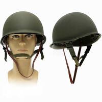 58-62CM WW2 USA Military Steel M1 Helmet WWII Army Equipment Field Green