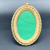 19th C.Antique French Ormolu Gilt Bronze Ornate Oval Picture Frame With Easel