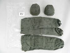 """1/6 Scale Military Army Camo Helmet Pants Set of 2 for 12"""" Figure"""