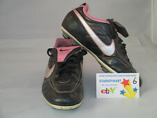 Nike Soccer shoes cleats Black Pink Youth Us 2.5 Uk 2 Euro 34 #6