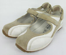 Womens Mephisto Mobils Mary Jane fashion sneakers leather shoes White Size 7