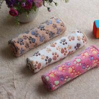 Winter Pet Dog/Cat Blanket Warm Paw Print Coral velvet Soft Blanket Beds Mat