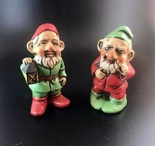 Two Japan Christmas Gnomes Elves Pixies Dwarfs 4� Tall