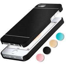 Alu Hard Case für Apple iPhone 5S / iPhone 5 Schutz Hülle Gebürstetes Aluminium