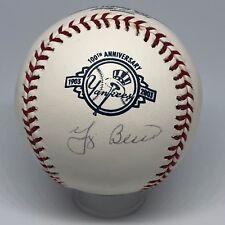 Yogi Berra signed Rawlings Yankees 100th Ann OML baseball JSA HOF All Star A229
