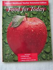 Glencoe Food For Today Student Workbook Teacher's Edition ISBN# 0078463076