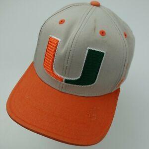 Miami Hurricanes Adidas Snapback Ball Cap Hat Adjustable Baseball Adult