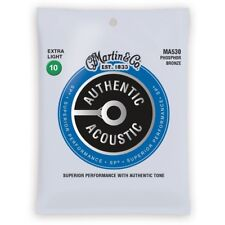 Martin MA530 Authentic Acoustic Guitar Strings Phosphor Bronze Extra Light 10-47