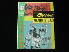 October 20, 1963 Cleveland Browns vs. Philadelphia Eagles NFL Program EX