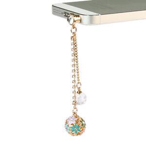 Universal Anti Diamond Ball Dust Plug Charm 3.5mm Ear Jack Cell Phone Chain