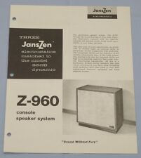RARE_1964_ JansZen  Z-960  Original  2-page Sales Brochure