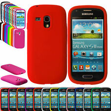 SOFT SILICONE-PLAIN GEL CASE COVER FOR SAMSUNG GALAXY S3 i8190 & S4 MINI i9190