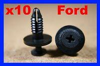 10 Ford door card fascia trim panel lining cover, mud guard fastener screw clips