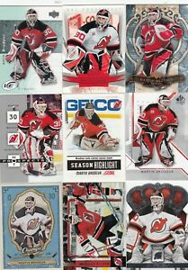 MARTIN BRODEUR a lot of 9 DIFFERENTS CARDS INSERTS near mint   LOT 14        a