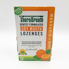 TheraBreath Dry Mouth Lozenges Mandarin Mint Flavor 100 Lozenges New