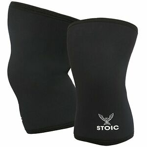 Stoic 7MM Knee Sleeves for Powerlifting, Weight Lifting - Professional Quality
