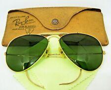 Ray-Ban USA Vintage 50s B&L 12kGF Aviator RB-3 Rare Museum Piece Mint Sunglasses